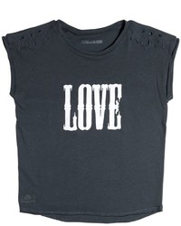 Zadig & Voltaire Love Printed Cotton Jersey T Shirt