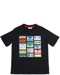 Fendi Monster Printed Cotton Jersey T Shirt