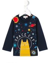 Paul Smith Junior Space Cat Printed T Shirt