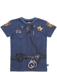 Molo Police Printed Cotton Jersey T Shirt