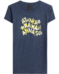 Anna Sui Printed Cotton T Shirt