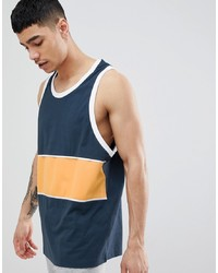 ASOS DESIGN Oversized Vest With Colour Block In Polytricot