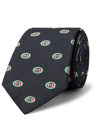 Gucci 75cm Logo Jacquard Silk Tie