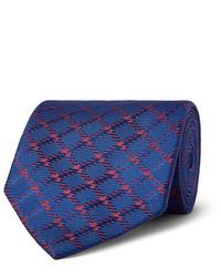 Charvet 85cm Checked Silk Jacquard Tie
