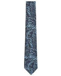 Topman Cabana Leaf Print Woven Tie