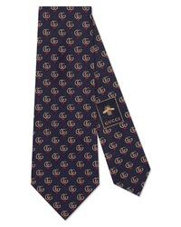 Gucci Gg Heart Silk Tie