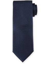 Hugo Boss Boss Geo Print Silk Tie Navy