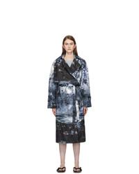Acne Studios Blue Landscape Trench Coat
