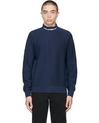 Polo Ralph Lauren Navy Logo Mock Neck Sweatshirt