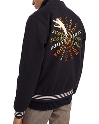 Scotch & Soda Knit Bomber Jacket