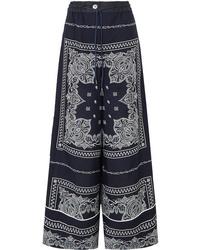 Sacai Printed Crepe Pants