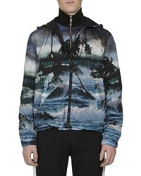 Givenchy Hawaii Print Hooded Windbreaker