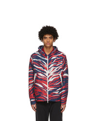 Moncler Navy And Red Chardon Jacket