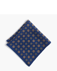 J.Crew English Wool Pocket Square In Medallion Print