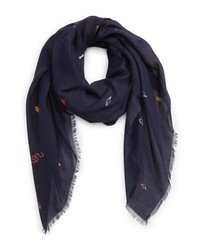 Gucci Mix Icon Print Wool Scarf