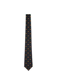 Gucci Navy Interlocking G Hearts Tie