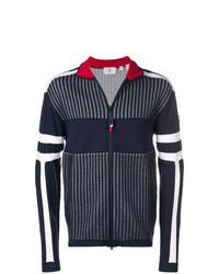 Navy Print Zip Sweater