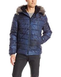 Calvin Klein Jeans Faux Fur Hood Snorkel Puffer Jacket