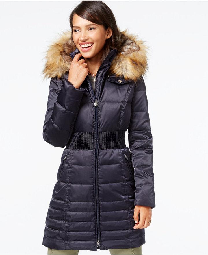 c59be60dbfa Laundry by Shelli Segal Faux Fur Hood Down Puffer Coat