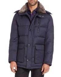 Strellson Faux Fur Trimmed Puffer Jacket