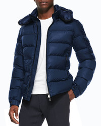 Moncler Himalaya Puffer Jacket With Hood Blue
