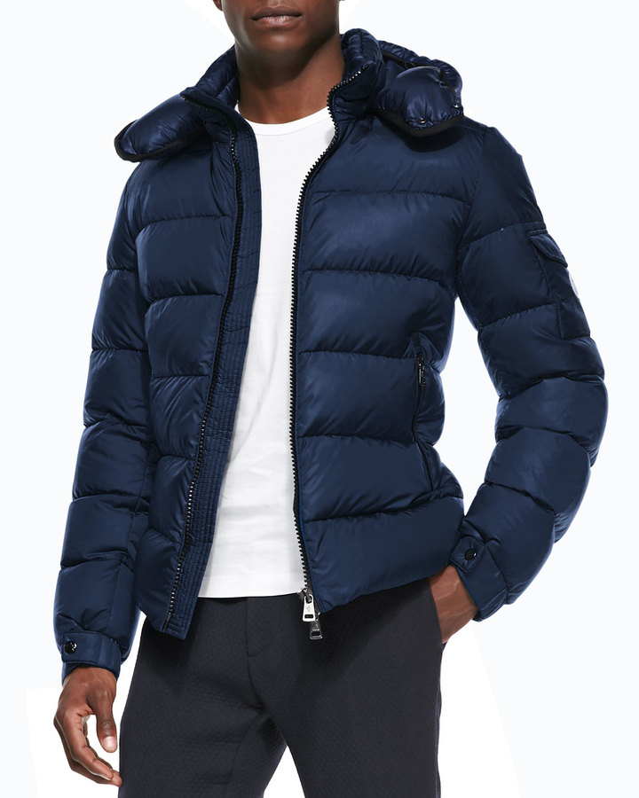 ... Moncler Himalaya Puffer Jacket With Hood Blue ...