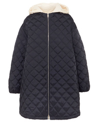 Jil Sander Hooded Cotton Med Quilted Shell Jacket
