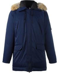 Kenzo Raccoon Fur Trim Puffer Coat