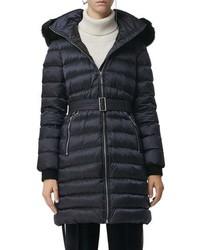Burberry Limefield Genuine Shearling Hood Puffer Coat