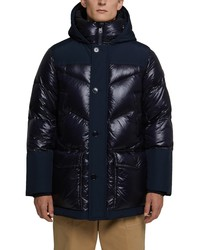 Woolrich Logo Arctic Down Hooded Puffer Coat