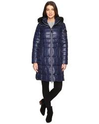 Marc new york by julia 37 laquer puffer faux fur coat coat medium 1315966