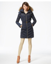 c61d3681d ... MICHAEL Michael Kors Michl Michl Kors Faux Fur Hood Belted Down Puffer  Coat