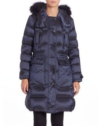 Burberry Ribbmoore Fur Trimmed Puffer Coat