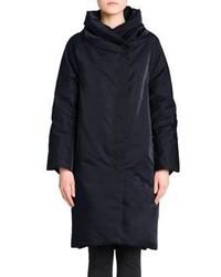Jil Sander Shawl Collar Long Puffer Coat