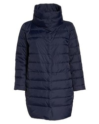 Eileen Fisher Stand Collar Cocoon Down Coat