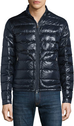 ... Moncler Acorus Zip Up Puffer Jacket Navy ...