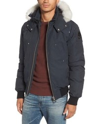 Moose Knuckles Ballistic Bomber Jacket With Genuine Fox