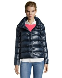 Herno Black Box Quilted Snap Front Down Jacket