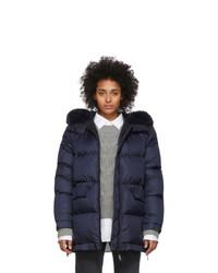 Yves Salomon Army Blue Down Doudoune Jacket