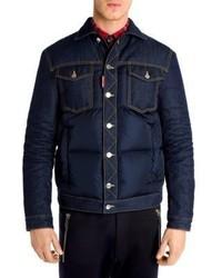 DSQUARED2 Denim Down Puffer Jacket