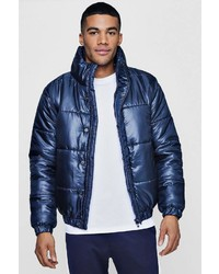 Boohoo Funnel Neck Padded Puffer Jacket