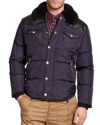 DSQUARED2 Fur Trim Quilted Puffer Jacket
