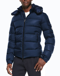 Moncler Himalaya Puffer Jacket With Hood Blue