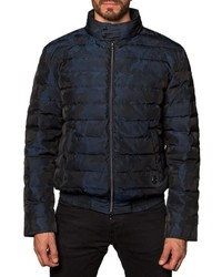 Jared Lang Lightweight Quilted Puffer Jacket Navy