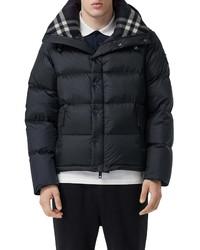 Burberry Lockwell Detachable Sleeve Down Puffer Coat