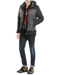 Duvetica Mixed Media Quilted Down Jacket