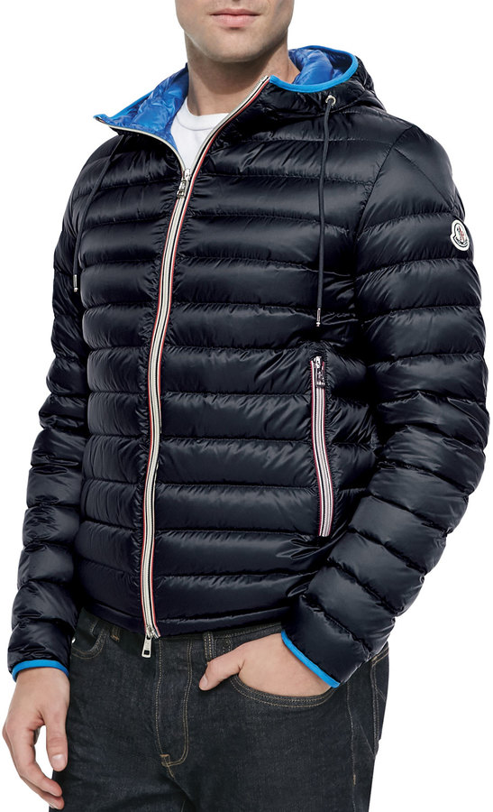 Where Moncler Puffer Buy Athenes Jacket Navy Hooded To RwvzRX