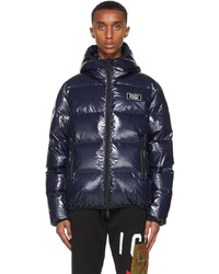 DSQUARED2 Navy Down Logo Puffer Jacket