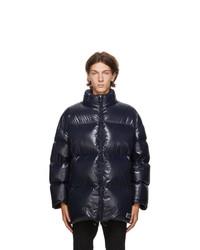 Valentino Navy Down Vltn Coat