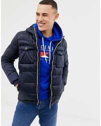 Jack & Jones Originals Puffer Jacket With Colour Zip And Arm Badge